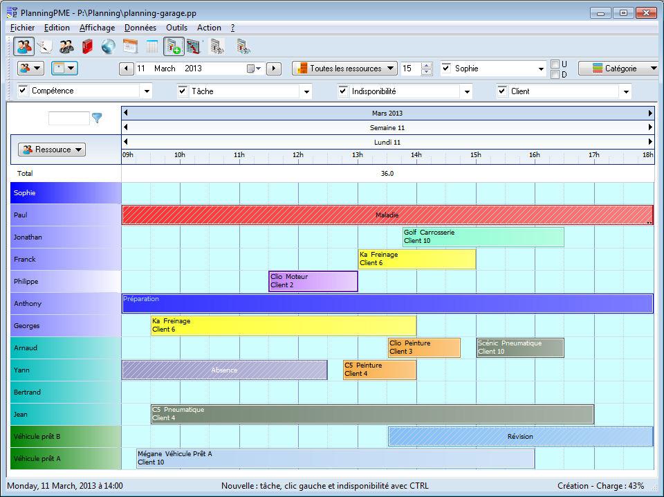 Gestire la pianificazione dei vostri interventi tecnici e for Garage planning software