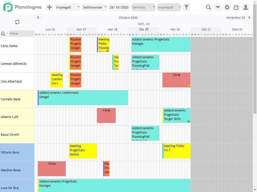 Creare un planning online semplice con planningpme for Programma per costruire case